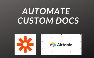 Automate Customer Documents