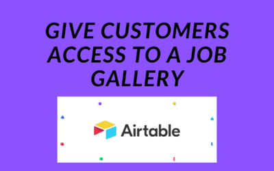 Give Customers Access to a Job Gallery