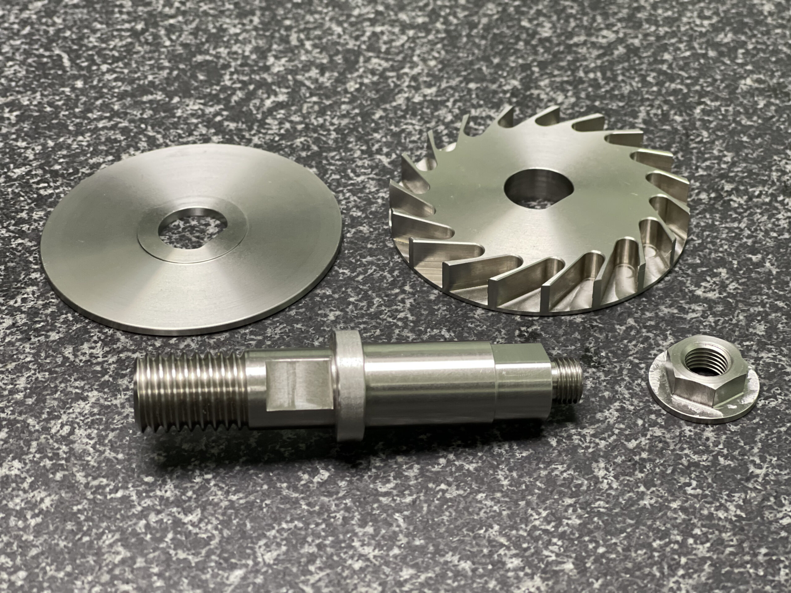 Stainless Shaft, Turbine and Washer